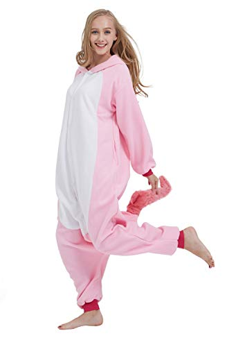 SAMGU Einhorn Adult Pyjama Cosplay Tier Onesie Body Nachtwäsche Kleid Overalll Animal Sleepwear Rosa - 5
