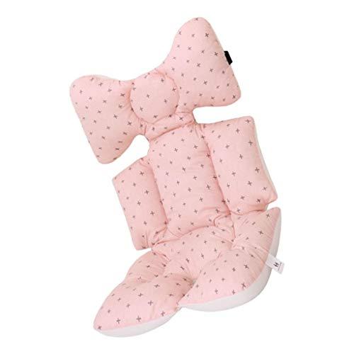 SM SunniMix Cojín para Sillas de Bebé Cojín Acolchado para Cochecito de Bebé Carritos Asientos Universal con Soporte de Cabeza - Rosado
