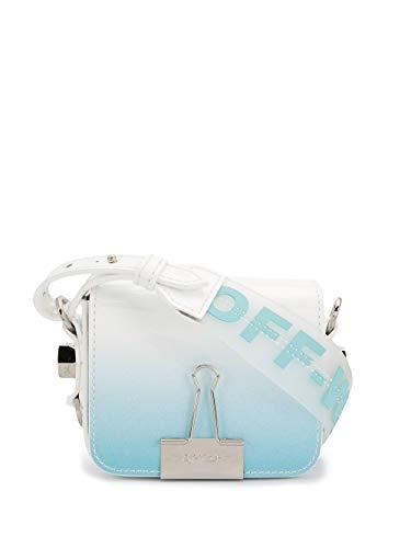 Luxury Fashion | Off-white Dames OWNA087R20G990683100 Blauw Leer Schoudertassen | Lente-zomer 20