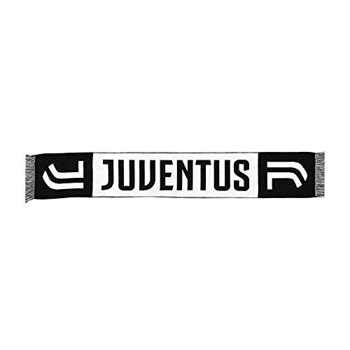 Juventus Sciarpa Ufficiale 2017/2018 Nuovo Logo Jacquard Classica