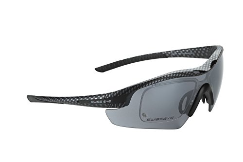 Swiss Eye Sportbrille Novena RX, Carbon Matt/Black, One Size, 12466RX