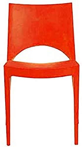 grandsoleil auf Paris Stuhl, Polypropylen, stapelbar, orange, 51x 49x 80cm