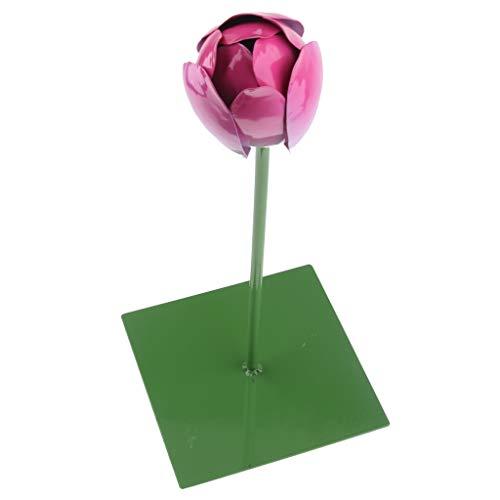 LOVIVER Lebensechte Eröffnung Blumen Ornament Wasser Schwimmende Lotus Leaf Art Garden Decor - D: Lotusblüte