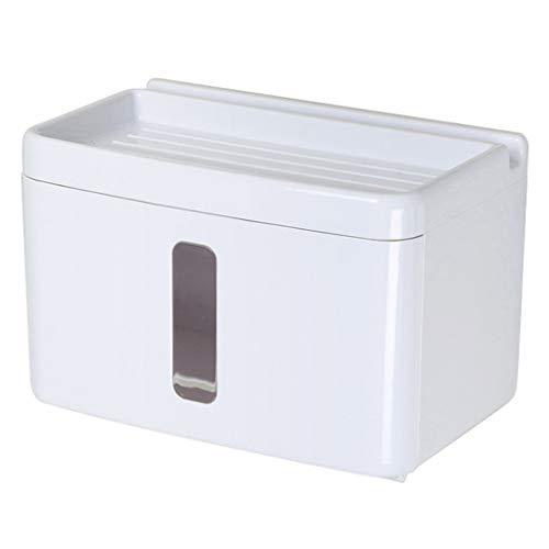 YFQHDD Multipropósito Soporte de Papel higiénico con el teléfono Estante y cajón de Almacenamiento, montado en la Pared del Tejido punzonado Gratuito dispensador de la Caja de baño o la Cocina