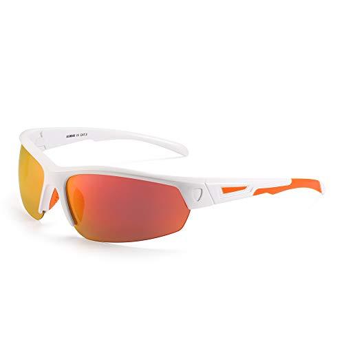 GLINDAR Gafas de sol polarizadas hombres Gafas de sol deportivas envolventes para...