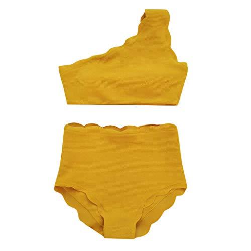 Bikinis Mujer 2019 Push up Talle Alto Color sólido Conjunto Push up Bikini Sujetador Acolchado Traje de baño Dos Piezas Elegante Bohemio Dividido BañAdores brasileños vikinis