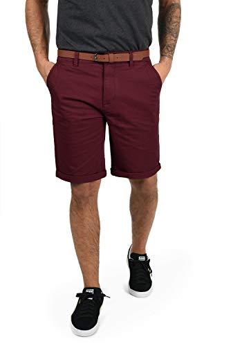 !Solid Montijo Chino Shorts Bermuda Kurze Hose Mit Gürtel Aus Stretch-Material Regular Fit, Größe:XL, Farbe:Wine Red (0985)