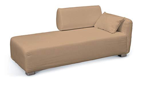 Dekoria Mysinge Recamiere Sofabezug Husse passend für IKEA Modell Mysinge honiggelb