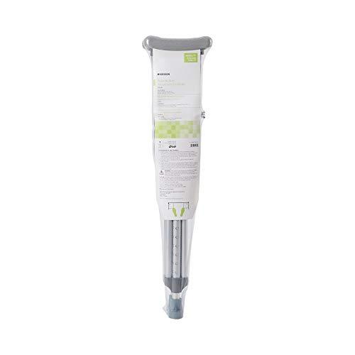 McKesson Aluminum Child Underarm Crutches 4' to 4' 6' User Ht.