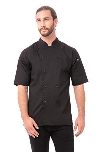 Chef Works Men's Avignon Bistro Coat, Black, XX-Large