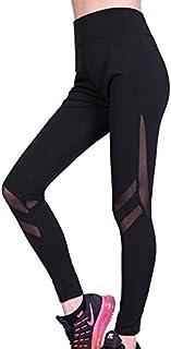 Leggings Net yarn stitching explosion models running pants yoga pants fitness pants new European and American female yoga pants new