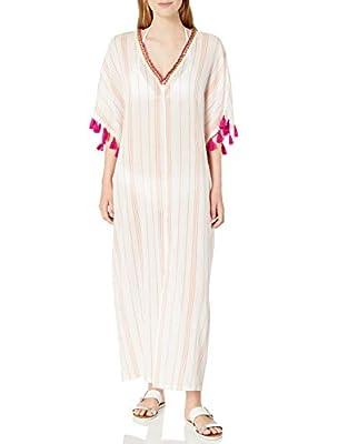 Trina Turk Women's Caftan Swimsuit, White//Diamond Cover, L/X-Large