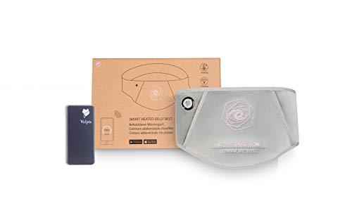 Vulpés Belly Belt - intelligenter beheizbarer Wärmegürtel mit Smartphonesteuerung und Graphentechnologie gegen Bauch- und Unterleibschmerzen (mit Powerbank 8000mAh)