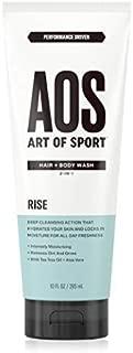Art of Sport Men's Body Wash with Tea Tree Oil and Aloe Vera, Rise Scent, Dermatologist-Tested, Paraben-Free, Hypoallergenic, Moisturizing Shower Gel, 10 oz