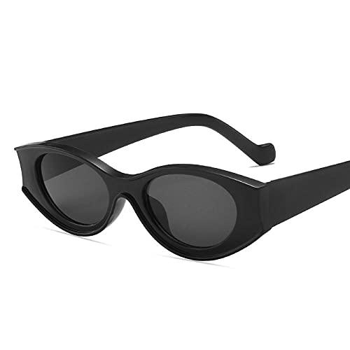 DLSM Gafas de Sol Gafas de Sol Gafas de Sol pequeñas Marco para Hombres Gafas de Sol Retro Gafas de Sol adecuadas para Gafas de Sol de Pesca de Golf-Gris Negro
