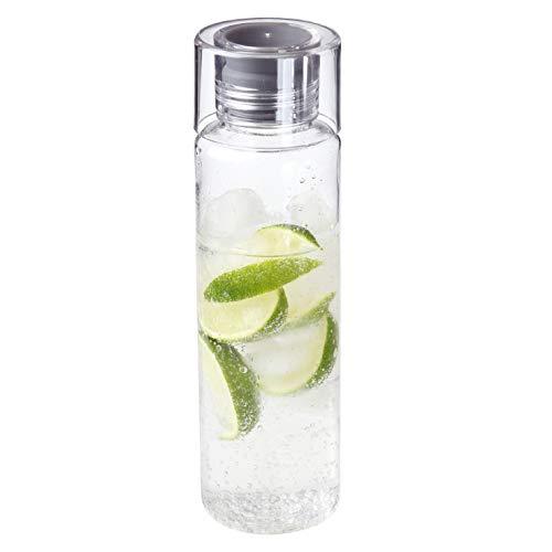 Glasklare Trinkflasche Acqua 580ml Wasserflasche zum Mitnehmen Auslaufsicher Sportflasche BPA-frei Perfekte Trinkflasche für Unterwegs, Schule, Sport, Arbeit