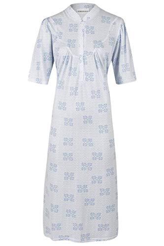 Ringella Damen *Nachthemd mit Knopfleiste bleu 54 0211045, bleu, 54