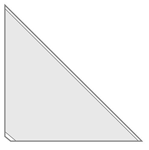 Veloflex 2217000 Dreiecktaschen VELOCOLL Einstecktaschen Klebeecken PP-Folie, 17 x 17 cm, selbstklebend, 8 St.