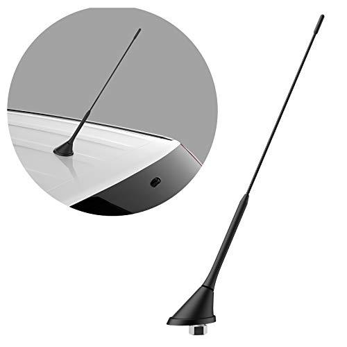 Navitec24 40cm Dach-ANTENNE für Radio FM inkl. ANTENNENSTAB - PKW ANTENNE Antennenfuss Radio Raku-2 Stecker