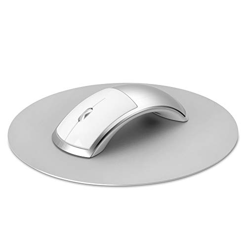 Wireless or Bluetooth Mouse with Aluminum Pad for Apple Macbook Pro/Air or Microsoft Pro/Book