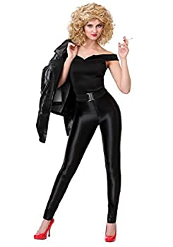Grease Deluxe Bad Sandy Costume Grease Costume for Women Medium Black