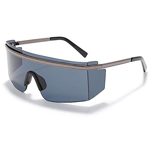 Gafas de sol fotocromáticas punk de gran tamaño a prueba de viento de una pieza para mujeres y hombres Uv400 Goggle 2