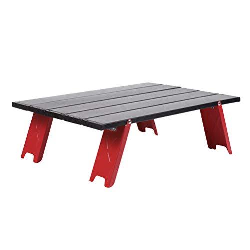 Abaodam Mesa plegable de picnic plegable Mesa de camping portátil Mesa ligera (rojo)