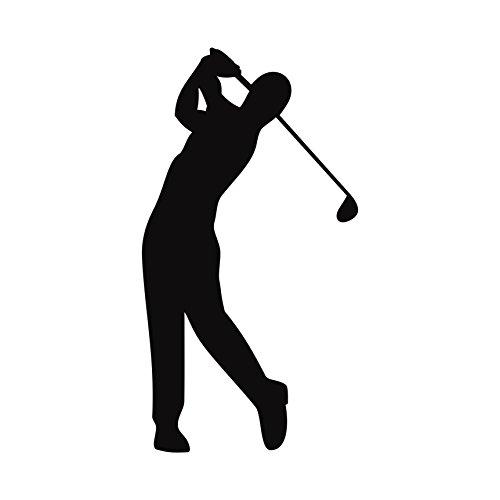 Golfspieler Aufkleber Golfer Golf Sport Autoaufkleber (Schwarz)