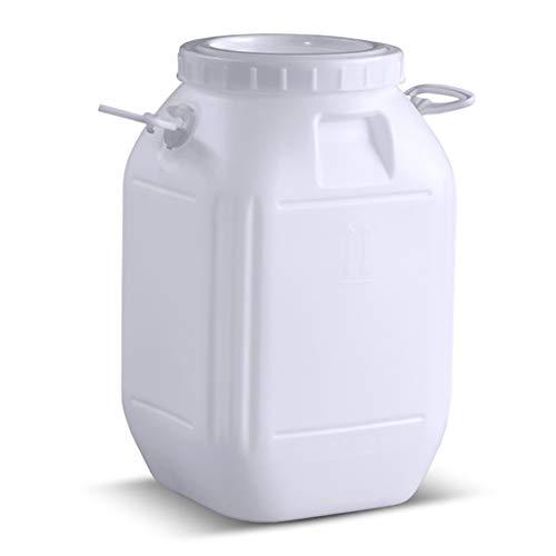 YATONG Deposito Agua Portátil de 50 litros, Bidon Garrafa Plastico Alimentario de Emergencia, Utilizado para Almacenar Agua Potable, Comida, Kimchi y Vino   Material de Grado Alimenticio   Sin BPA