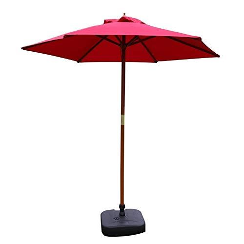 HH- Sombrillas Sombrilla de Jardín con Sistema de Polea, Sombrilla Al Aire Libre para Playa/Piscina/Patio, Protector Solar Redondo Rojo UV40 + (Size : Diameter 2.1m)