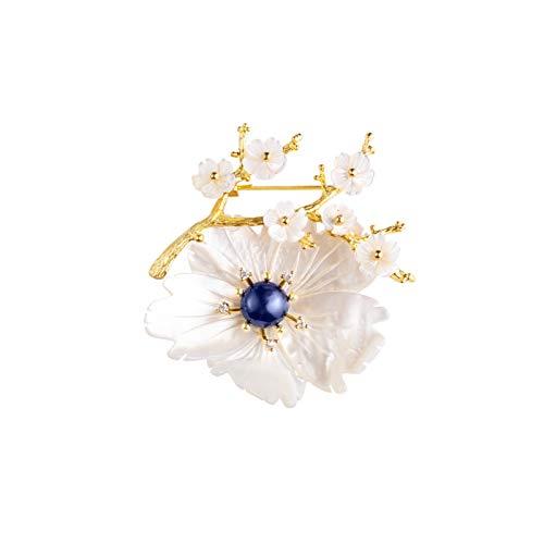 xiaokeai Mujer Broches Broche Pin para Las Flores de Pera de Las Mujeres, Elegancia de Alta Gama de la Elegancia suéter Cardigan Corsage Pin Día de San Valentín Regalos JoyeríA De Moda