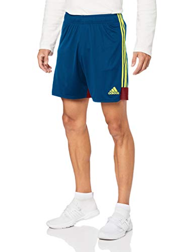 Adidas Tastigo 19 SRT, Pantaloncini Uomo, Blu (Legend Marine/Bright Yellow), S