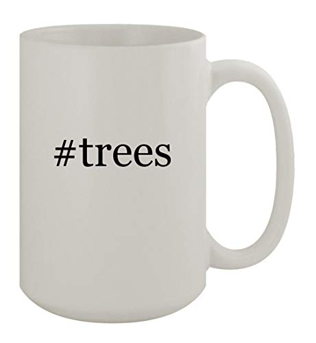 #trees - 15oz Ceramic White Coffee Mug, White