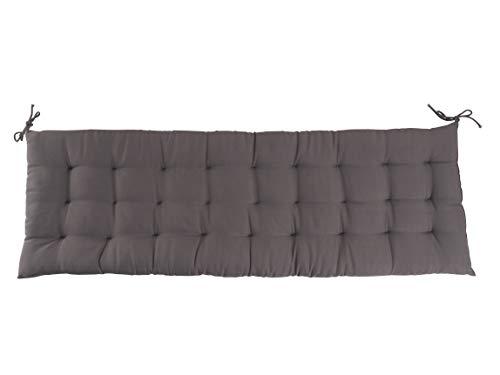 CB Home & Style Bankauflage Bankkissen 4 cm dick Sitzpolster Bank Gartenbank Auflage (120 x 40 cm, Anthrazit)