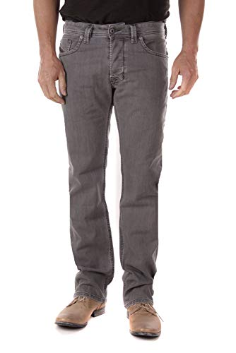 Diesel Herren Larkee R18D6 Jeans Hose Regular Tapered (30W / 32L, Grau)