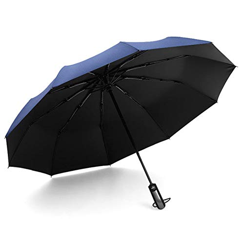 Leobtain Paraguas Plegable de Viaje a Prueba de Viento con...