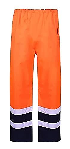 FAIRY TRENDZ LTD Pantalones de lluvia impermeables para hombre, de alta visibilidad, para adultos, reflectantes, de seguridad...