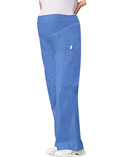 Cherokee Women's Petite Plus-Size Maternity Knit Waist Pull-On Pant, Ceil Blue, XX-Large