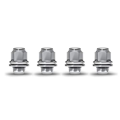 White Knight 5306 Chrome M12x1.25 OEM Factory Style Mag Lug Nut with Washer, 4 Pack