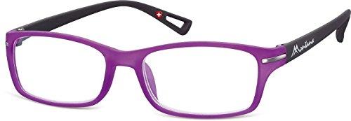 Montana Eyewear Sunoptic MR76C +2.00 Lesebrille in lila, inklusive Softetui, transparent