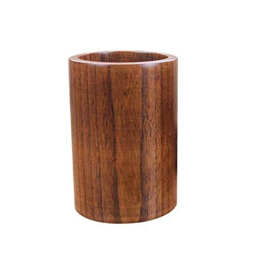 BESTonZON Soporte para Utensilios de Cocina de Bambú Organizador de Cocina para Tenedores Cubiertos Palillos Cuchara