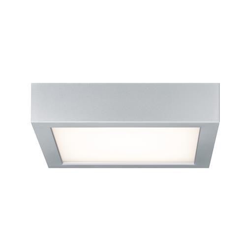 Preisvergleich Produktbild Paulmann 70387 WallCeiling Space LED-Panel 200x200mm 11W 230V Chrom matt / Weiss Kunststoff eckige Deckenaufbauleuchte Deckenleuchte Deckenlampe 703.87