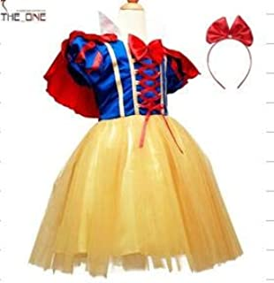 Girl's Snow White Princess Dress,short Sleeve 4 Years