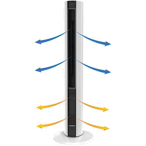 Lasko FH500 Fan & Space Heater Combo Tower, 42 Inch, Black White