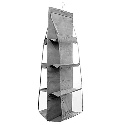 josietomy Handbag storage, handbag organiser hanging with 8 compartments, pocket holder for bags, living room, bedroom