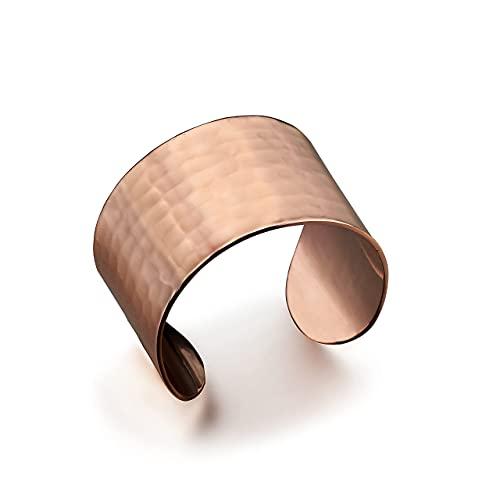 DEMMEX Hand Crafted Thickest 100% Turkish Hammered Copper Unisex Cuff...