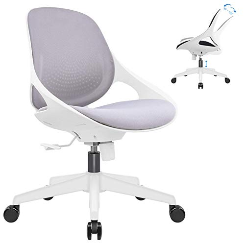 N/Z Tägliche Ausstattung Moderner ergonomischer Bürostuhl Bequemer Schreibtischstuhl Höhenverstellbarer, drehbarer, Dicker Sitzkissen Computerstuhl für Home Office Conference-Black.