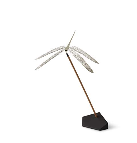 NAV Scandinavia Wonder Libelle Größe M in Silber glänzend zum Aufstellen Balanceobjekt Tisch-Mobile Dekofigur Geschenk, 15 x 15 x 22 cm