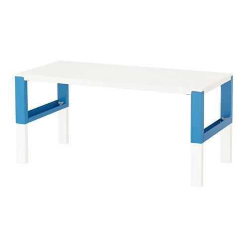 Ikea Skrivbord, vit, blå 2204.826291.1830