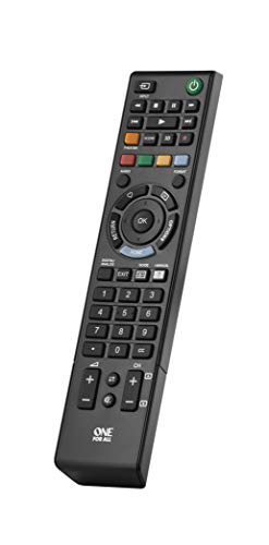 One For All Sony TV Replacement Remote - Works with all Sony Televisions (LED, LCD, Plasma) - Ideal TV Replacement Remote Control with Mame Functions as The Original Sony Remote - Black - Urc1812